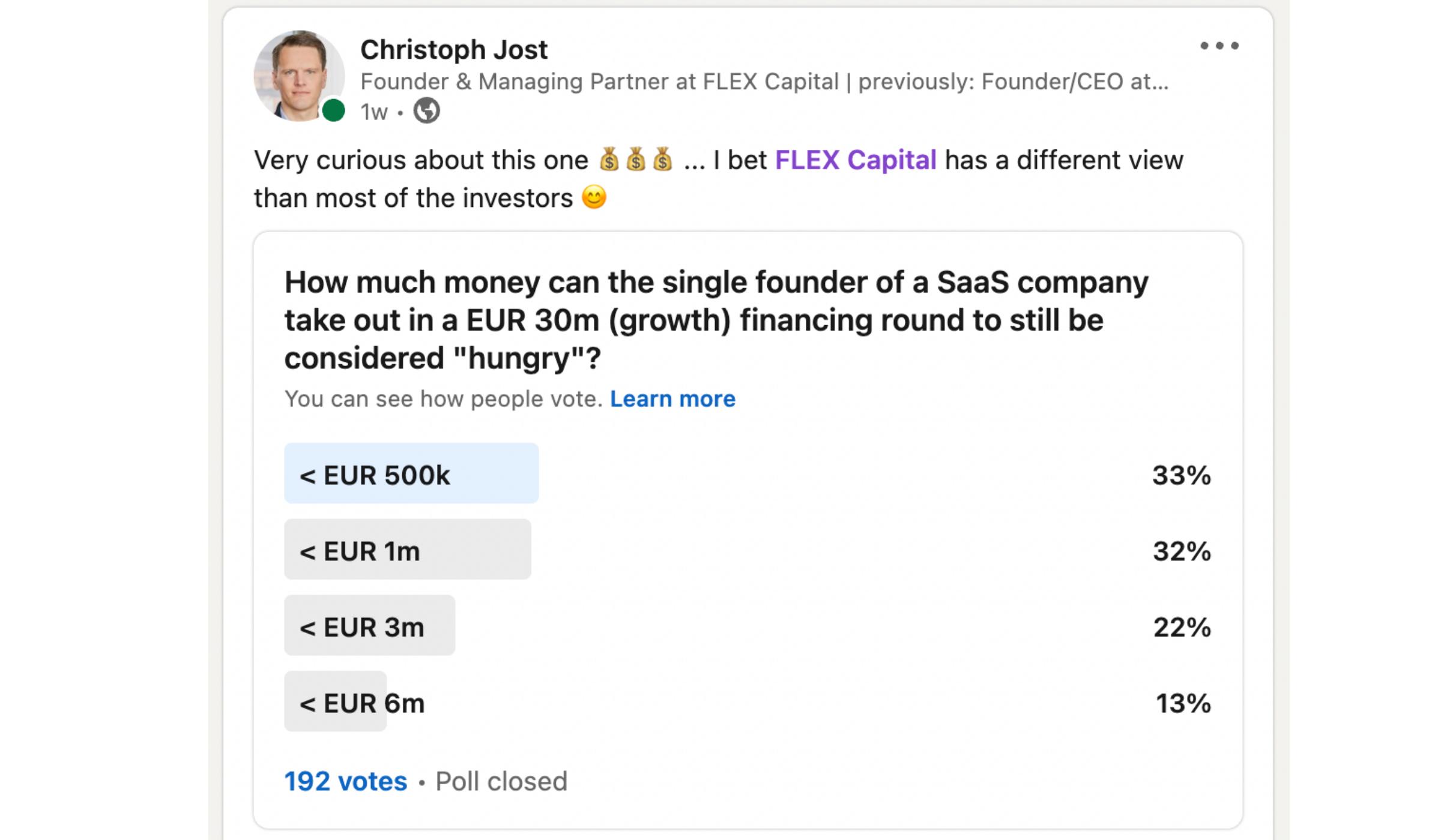 LinkedIn Umfrage
